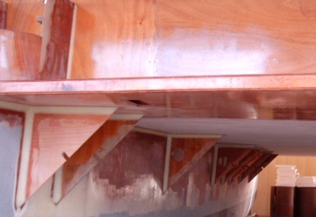 Building the DH550 radius chine plywood catamaran