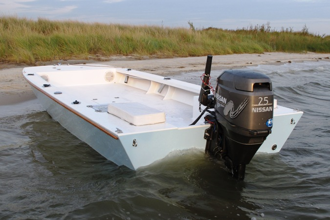 Inlet Runner 16 plywood garvey fishing boat