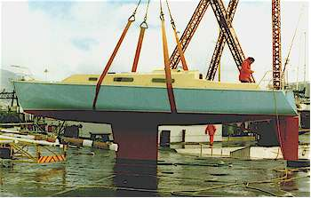Coquette 39 multi-chine plywood boat plans for amateur builders