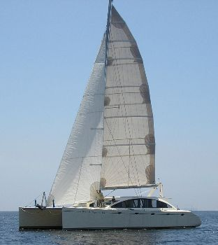 55ft Radius chine plywood catamaran