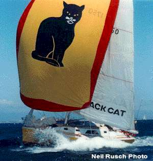 """Black Cat"" Didi 38, radius chine plywood boat plans for amateur boat builders"