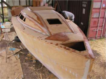 Dudley dix yacht design wooden amateur boatbuilding projects for Small house design made of plywood