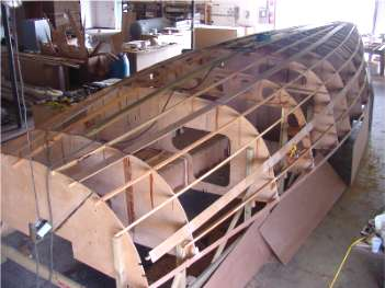 Building Didi 38 radius chine plywood cruiser/racer sailboat