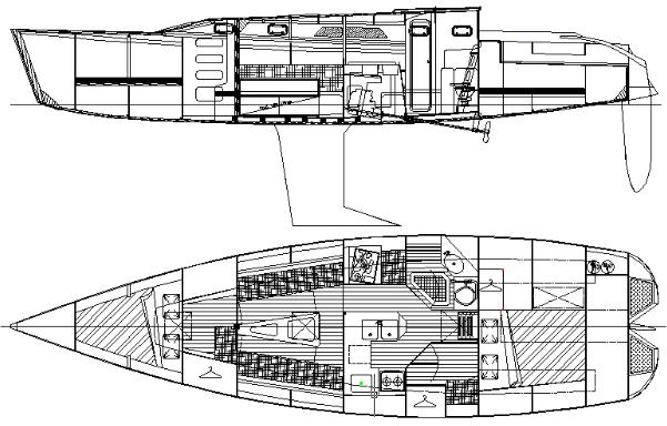 Didi 40cr radius chine plywood sailboat