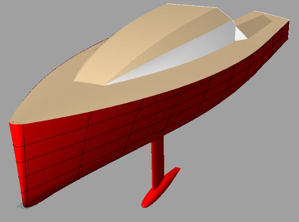 Didi 950 radius chine plywood Class 950 3D view