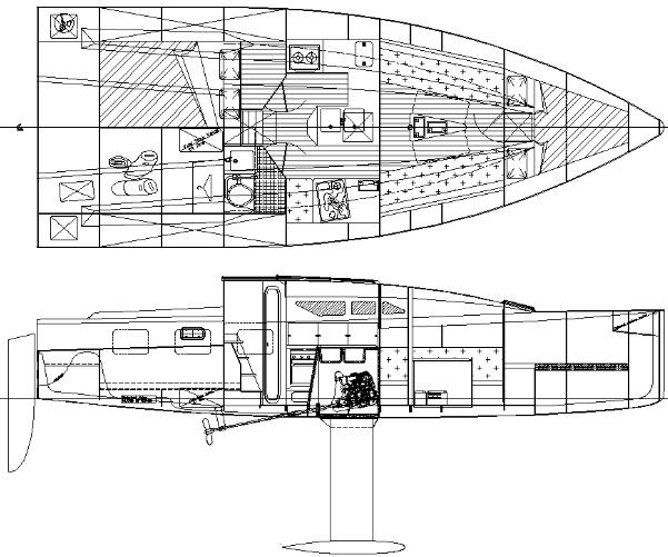 Didi 950 radius chine plywood Class 950 accommodation layout