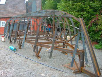 Dudley Dix Yacht Design - Steel amateur boatbuilding projects