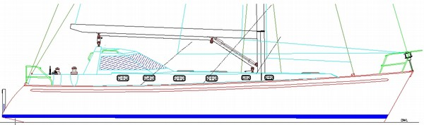Dix 43 radius chine steel boat plans