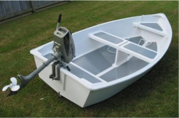Dixi Dinghy stitch & glue plywood boat plans for amateur boatbuilders