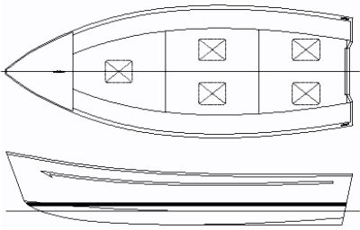 graphic relating to Boat Template Printable known as 20feet Metal or aluminum complicated chine all round explanation boat