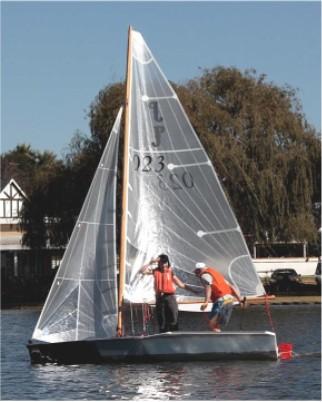 Paper Jet sailing dinghy
