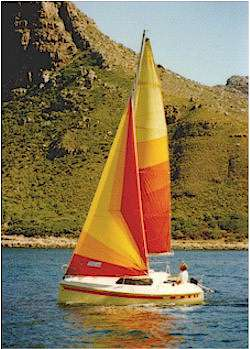 TLC 19 sailing in Hout Bay