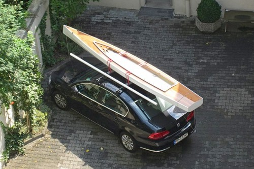 Trika 540 packed on the roof of a standard car, with amas in the main ...